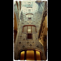 Another #gaudi shot I took @ the #casabatllo . This is from the inside, such a beautiful thing