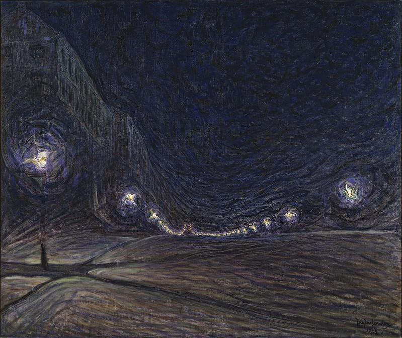 Eugène Jansson - Hornsgatan nattetid (1902)