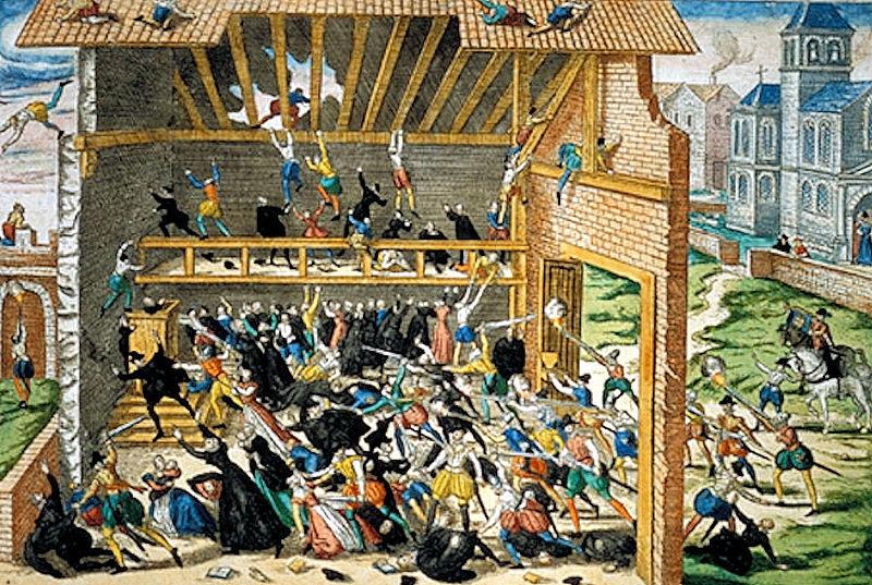 Massacre de Vassy, print by Hogenberg