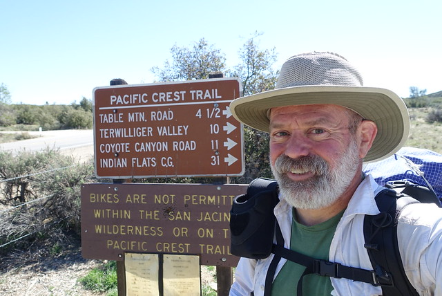PCT.  Highway 74 trailhead.