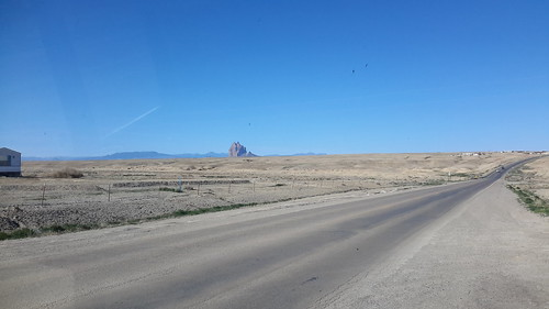 Ship Rock - a prominent figure on the great plateau in the Navajo Nation