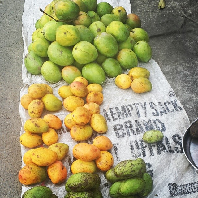 It took me 3 seasons of eating mangoes to realise that we have an astounding variety of #mangoes in #Nigeria. This season, I've had 4 or 5 varieties. In this photo, there are 3 sorts. Top - Peter mangoes. Green-skinned, somewhat sour and orange on the