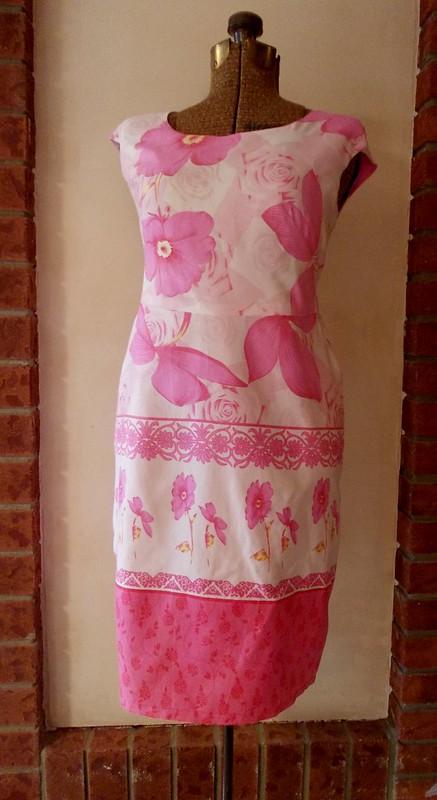Made-from-a bedsheet dress