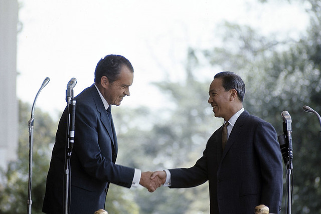 1969 Official Visit Of President Richard Nixon To Saigon