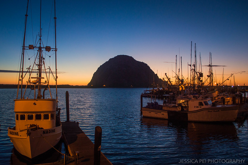 Morro Bay Sunset California