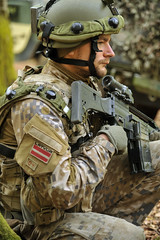 Latvian Army soldier