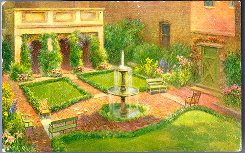Edgar Allan Poe Shrine, Richmond, Va. [Loggia and Garden]