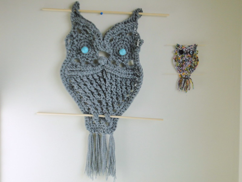 over sized & small owl wall hangings