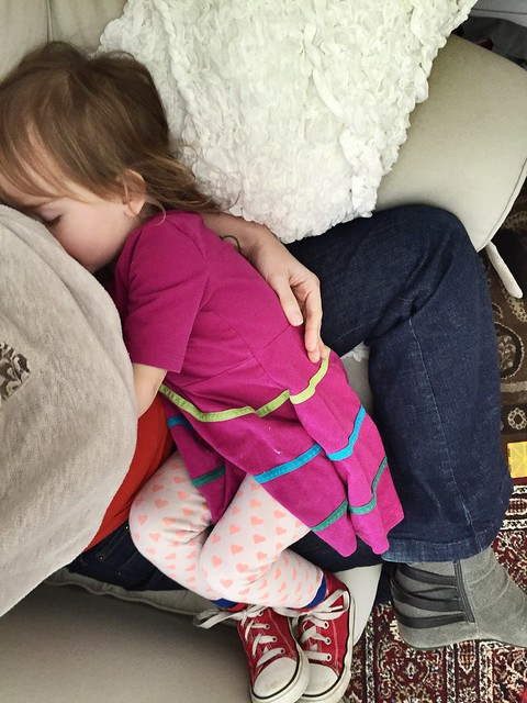 Toddler nursing.