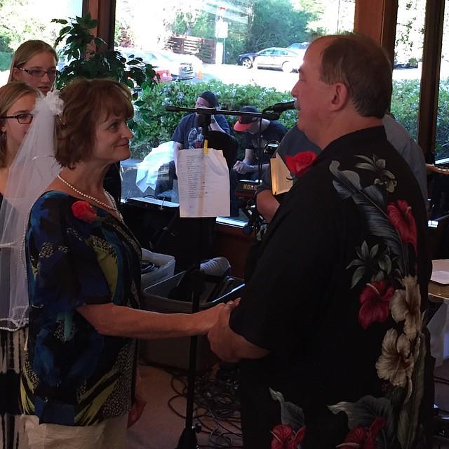 At Kay's and Greg's wedding celebration