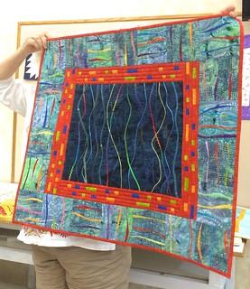 Berit's UFO challenge art quilt