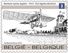 09 100 jaar eerste luchtpost Timbre B