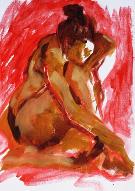 10 mins, oil paint, 08/03/2015