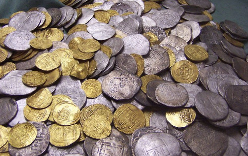 Cocos island treasure coins