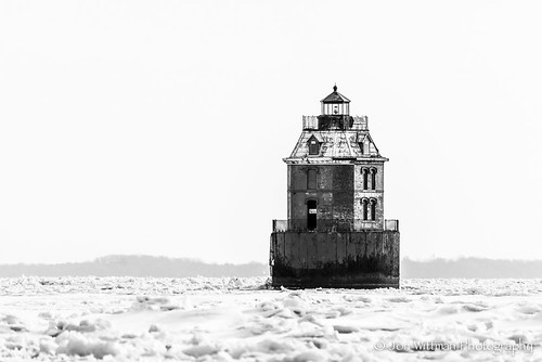 Sandy Point Light House B&W