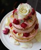 Ispahan 'naked' tiered cake
