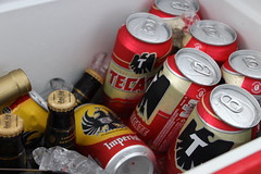 red, bottle, tin can, drink, beer, alcoholic beverage,