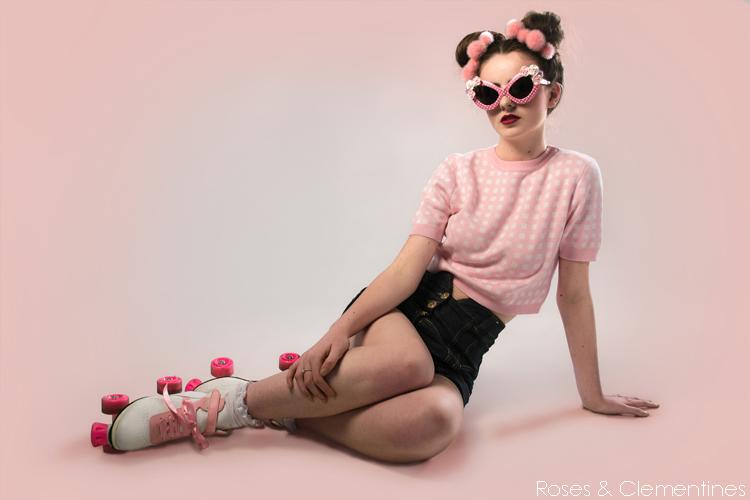pink pom pom bun crowns, pompom headwear