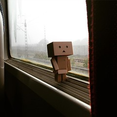 I didn't realized #Danbo sneaked in to my bag. He didn't want to miss his first #travel #adventure to #morocco. During the 4 hour journey to #Fes. He is as amused as I am with every announcement on board about the destination. The train doesn't speak Engl