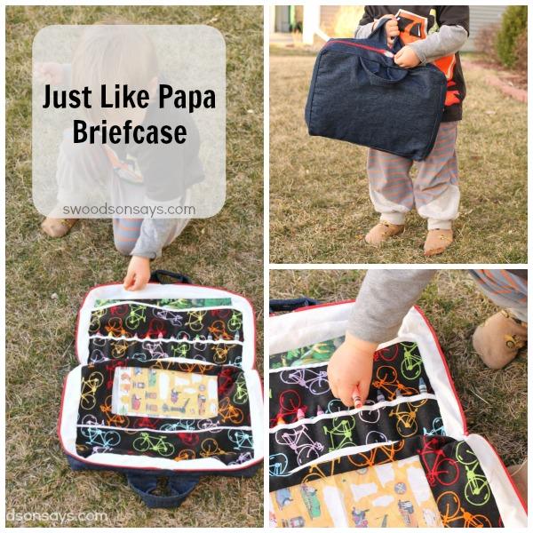 Just Like Papa Briefcase