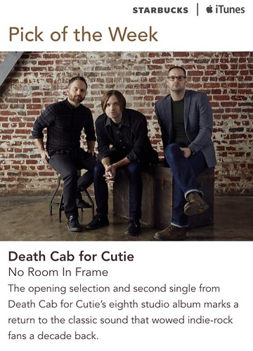 Starbucks iTunes Pick of the Week - Death Cab for Cutie - No Room In Frame