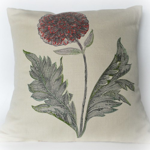 Libert London embroidered cushion