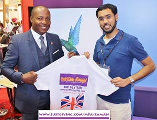 Mfa Zaman with Brian Lara