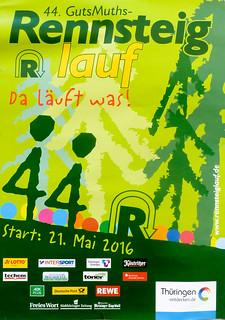Plakat 44. Rennsteiglauf