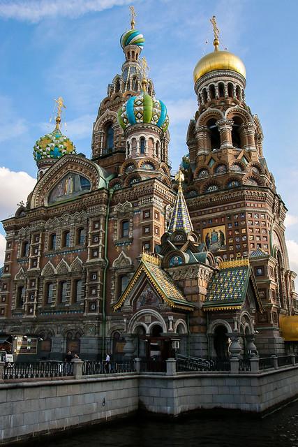 Church of the Savior on Blood, Saint Petersburg, Russia サンクトペテルブルク、血の上の救世主教会外観
