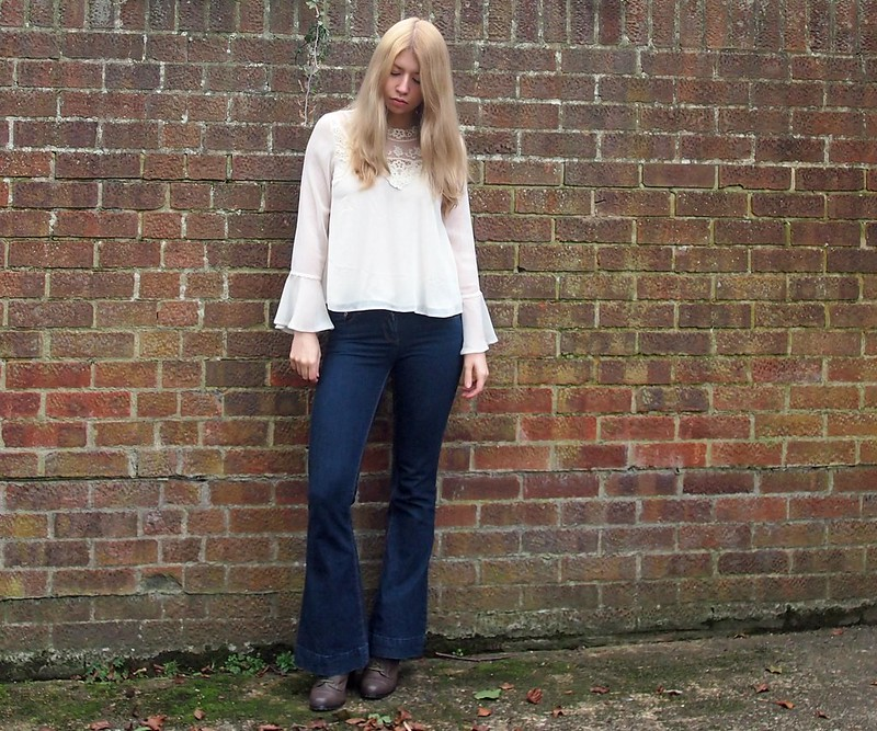 Sam Muses, UK Fashion Blog, London Style Blogger, Flares, How to Wear, SS15, Style Inspiration, Outfit Ideas, Seventies Style, Sheer, Embroidered