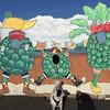 Giant dancing artichokes, but...Panda don't care! #mosslanding #california #monterey #dog #artichoke #pandadog #pdoggie #sweetp #pandadontcare #PetRescue #veggies #iPhone6