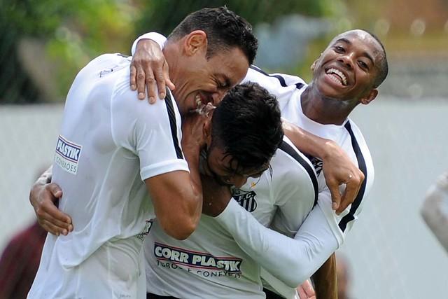Ricardo Oliveira, Gabriel e Robinho