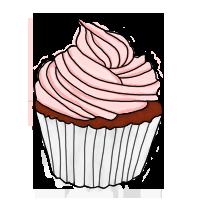 cupcake sfondo trasparente