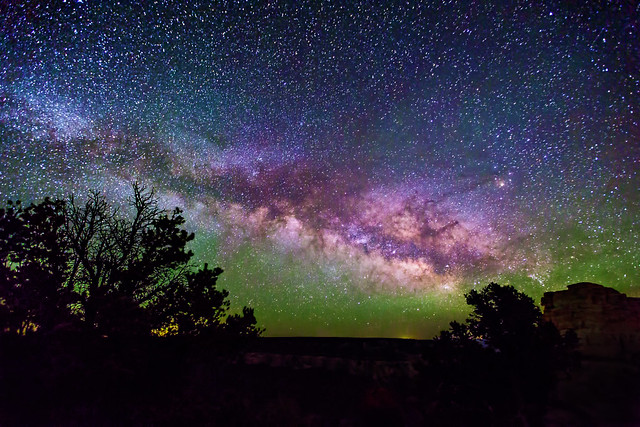 Wayne Pinkston - Milky Way over the Grand Canyon