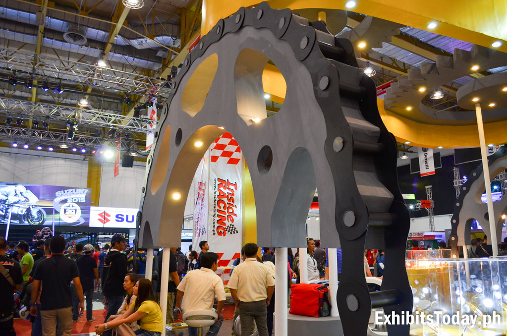 Fabricated Giant Sprocket at SSS Sprocket Booth