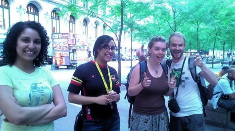 Sarra & Nada Awad, Scott & Chloe in Zuccotti Park