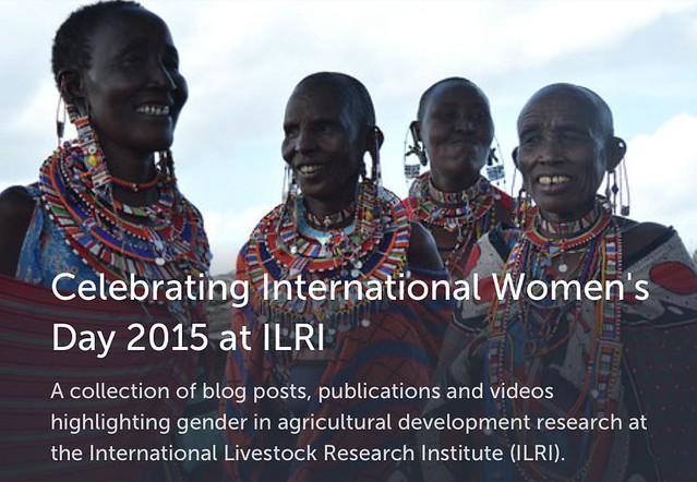 International Women's Day 2015: ILRI Storify screenshot