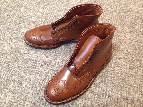 Alden Whiskey Wingtip Boots