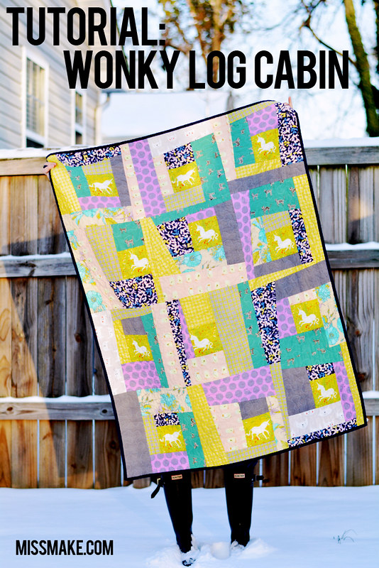 Miss Make: Tutorial: Wonky Log Cabin Quilt : wonky quilt - Adamdwight.com