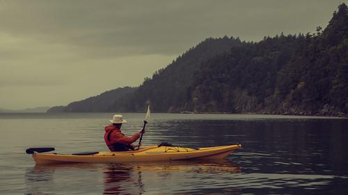 Kayaking out.