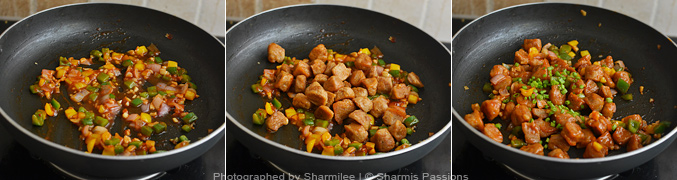 How to make soya chunks manchurian - Step5