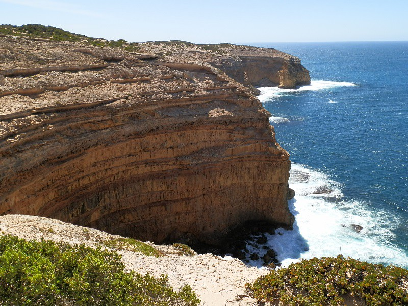 Cliffs at Cape Spencer, Innes National park