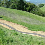 Hill Side Concrete Walkway Poured In Vacaville CA