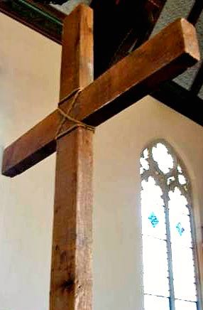 an empty cross