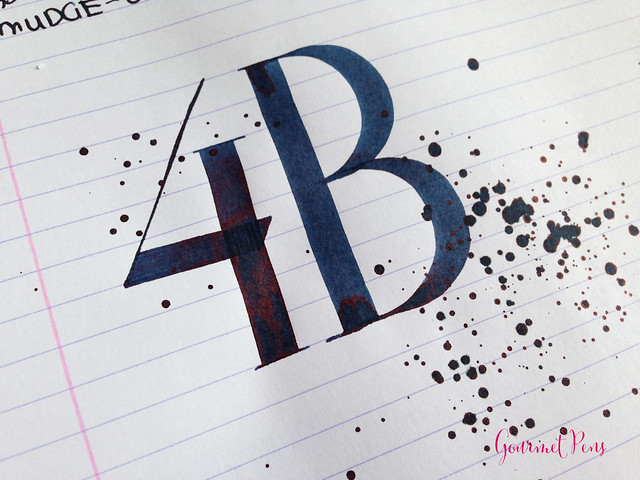 Ink Shot Review Sailor Bung-Box 4B Blue Black @bungbox (6)