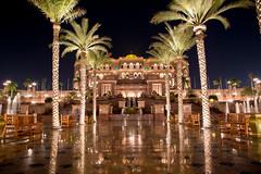 Emirates Palace at Night in Abu Dhabi