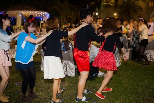 推薦婚宴場地:台南商務會館,米老鼠米奇的特殊結婚婚禮風格新人二進7-兔子舞