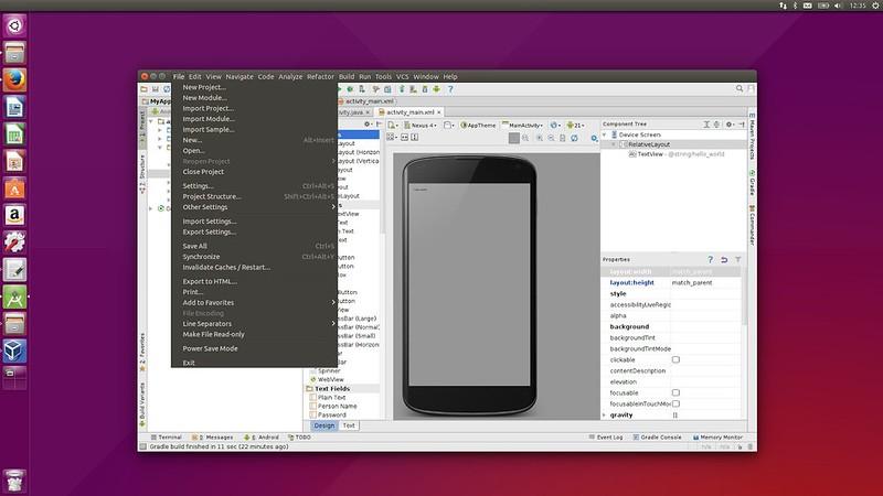 Ubuntu 15.04 внешний вид