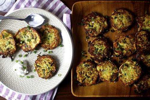 potato scallion and kale cakes