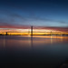 Forth Road Bridge Easter Day Sunset by Kyoshi Masamune